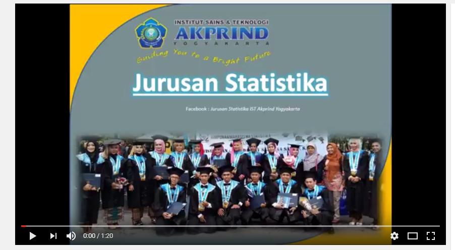 Profil Jurusan Statistika IST AKPRIND Yogyakarta