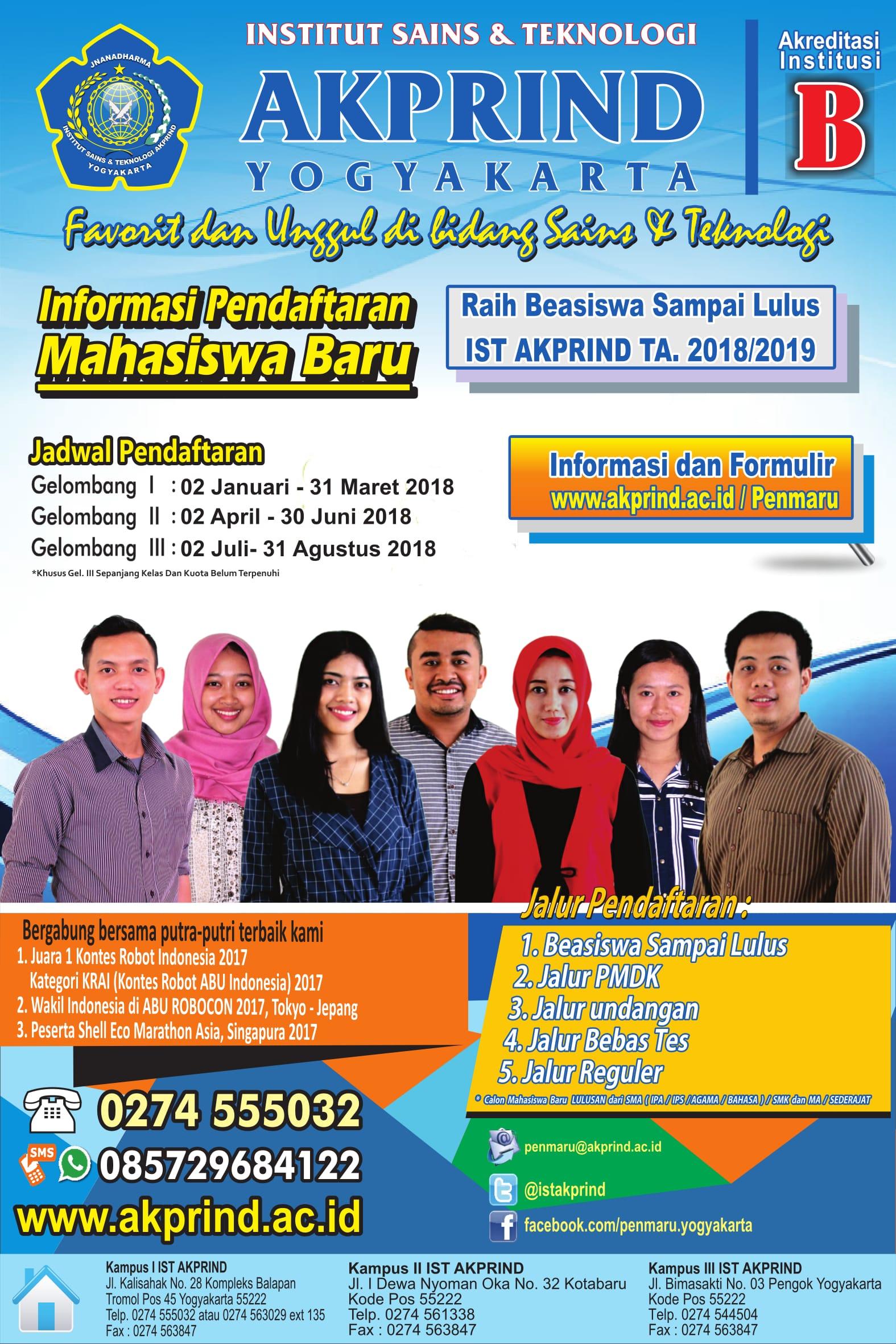 Info Pendaftaran Mahasiswa Baru 2018