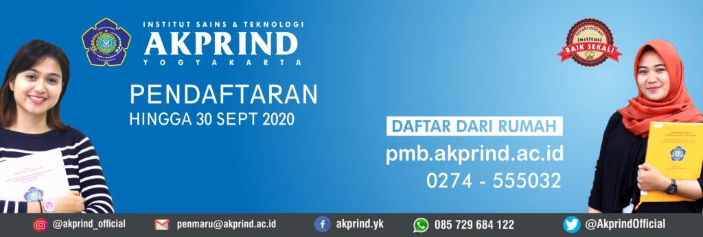 Pendaftaran Mahasiswa Baru IST AKPRIND hingga 30 September 2020