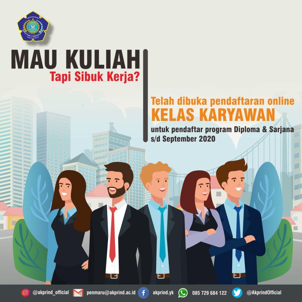Jurusan Statistika IST AKPRIND Yogyakarta Buka Pendaftaran Kelas Karyawan